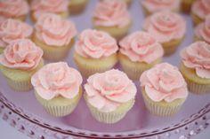 mini rose cupcakes - Google Search