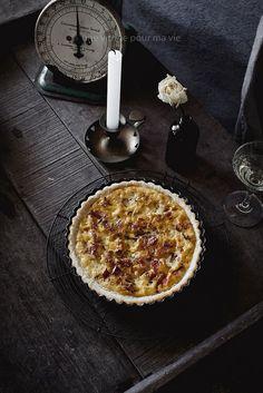 Julia Child's Quiche Lorraine | Une Vitrine Pour Ma Vie Quiche Lorraine, Cheese Bar, Food Photography, Desserts, Glass Display Case, Life, Tailgate Desserts, Deserts, Postres