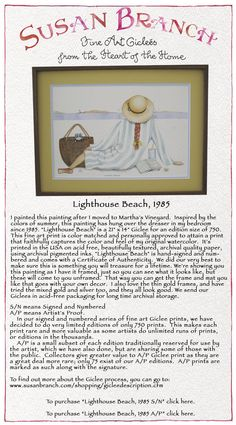Lighthouse Beach by Susan Branch