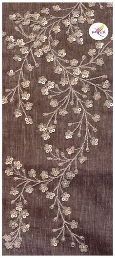 Zardozi Embroidery, Tambour Embroidery, Hand Embroidery Videos, Hand Work Embroidery, Couture Embroidery, Hand Embroidery Stitches, Hand Embroidery Patterns Flowers, Flower Embroidery Designs, Tambour Beading
