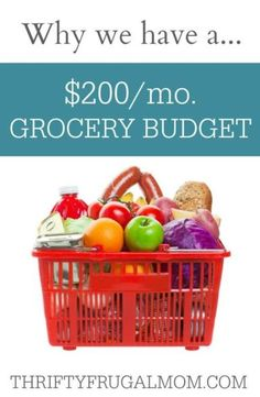 So, why do we have a $200 a month grocery budget anyway? Is it really just all about saving money? The answer might surprise you!