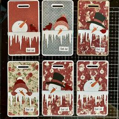 Christmas Gift Tags, Advent Calendar, Playing Cards, Scrap, Holiday Decor, Cottage, Gift Cards, Atc, Instagram
