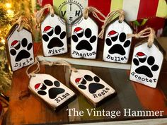 Excited to share this item from my shop: Personalized Christmas Ornaments Christmas decor dog sign cat sign pet tags gift tags wood sign sayings custom wood sign sign Christmas Wood Crafts, Farmhouse Christmas Decor, Christmas Dog, Christmas Projects, Holiday Crafts, Christmas Crafts To Sell Handmade Gifts, Handmade Gift Tags, Christmas Signs Wood, Country Christmas