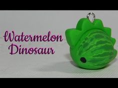 Kawaii Watermelon Dinosaur polymer clay charm tutorial