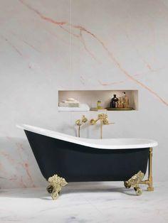 We are obsessed with this art piece. An authentic Victorian style bathtub for a splendid soaking experience.    #30daysofBathtubs  #bathtubs #victorian #victorianstyle #victoriantimes #bathroomideas #bathdecor #showeressentials #luxury #interiors #interiorinspiration #dropinbathtub #interiordesign #homegram #instahome #homestyle #interiorwarrior #interior4all #bathroomdecor #bathroomdesign #interiorstyle #livableluxury #currentdesignsituation #designinspiration #homegoals #bathroomgoals