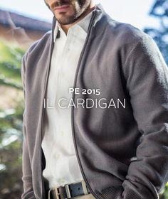 Il #cardigan #fullzip in #purocotone, alternativa casual alla più formale giacca #pe2015 #purecotton