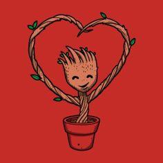 Baby Groot love