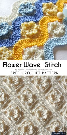 Wave Stitches Collection Free Crochet Patterns #crochetstitch