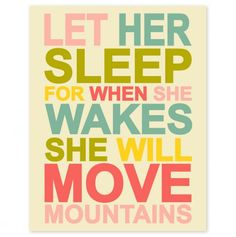 Let Her Sleep - Precious Prints from Finny and Zook