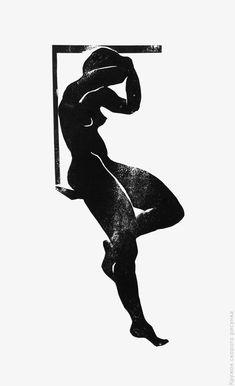 Монохромная гравюра на картоне. Фигура: strg_circle — LiveJournal Linocut Prints, Art Prints, Illustrations, Illustration Art, Stamp Printing, Art Graphique, Figure Painting, Figurative Art, Art Inspo