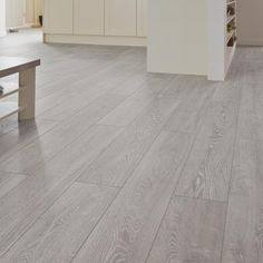 a modern feature to your home with our Professional fast fit V groove .Introduce a modern feature to your home with our Professional fast fit V groove . White Wood Laminate Flooring, Grey Wood Floors, Grey Flooring, Hardwood Floors, Living Room Flooring, Bedroom Flooring, Kitchen Flooring, Grey Oak, My New Room