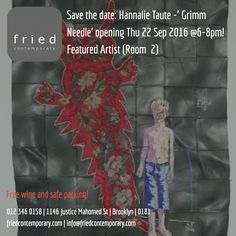Hannalie Taute: Grimm Needle opening Thu 22 Sep @6-8pm! #art #pretoria Exhibition #events #culture #afrikaans #kuns
