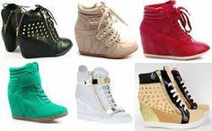 Znalezione obrazy dla zapytania śliczne buty na koturnie