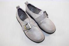Gravity Defyer Riley Grey Brown Flats Victorian Womens Shoes Comfort RETAIL $139 #GravityDefyer #RileyFlatsVictorianWomensShoes