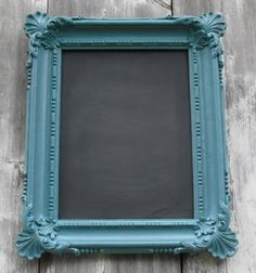 Our Summer DIY Home Improvement Projects Picture Frame Chalkboard, Blackboard Paint, Chalkboard Decor, Old Picture Frames, Framed Chalkboard, Old Frames, Vintage Chalkboard, Chalk Paint, Homemade Chalkboard