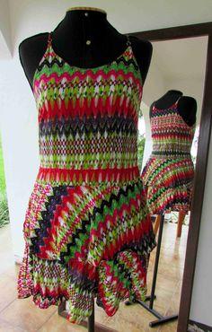 Vestido alcinha com 2 saias - Viscose