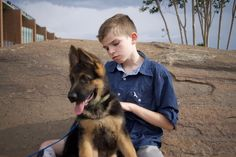 What I learn from Xavier. The parents of a special needs child have adopted a service dog (in training) and are now raising fund to afford his training.