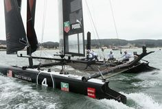 Oracle Team USA skippered by James Spithill in action during the America's Cup World Series on August 25, 2012 in San Francisco