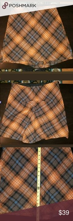 Wool blend designer plaid mini skirt Super cool and chic. Clinched back is super flattering.  See pics for details. Philosophy di Alberta Ferretti Skirts Mini