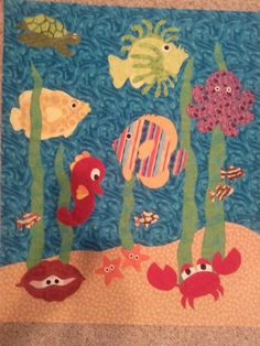 Under the Sea baby quilt - QUILTING