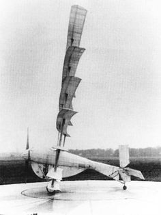 Gerhardt Cycleplane, 1923 - Premier avion à propulsion humaine.