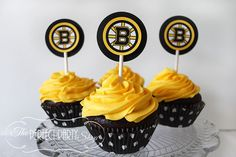 Boston bruins cake toppers