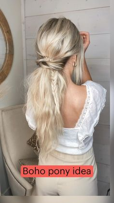 Work Hairstyles, Easy Hairstyles For Long Hair, Pretty Hairstyles, Wedding Hairstyles, Low Pony Hairstyles, Super Easy Hairstyles, Braided Ponytail Hairstyles, Hairdos, Updos