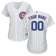 d923308e0 Women s Chicago Cubs Majestic White Home Cool Base Custom Jersey