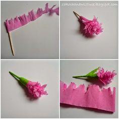 Cześć :) Bibuła to dość wdzięczny materiał. Można z niej wykonać    wiele atrakcyjnych ozdób, np. wiosenne kwiatki, które pięk...