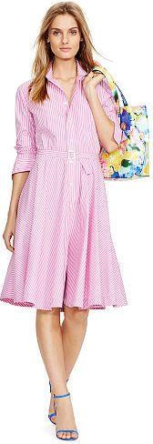 Polo Ralph Lauren Bengal-Striped Shirtdress