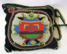 Bag Mask Bag Handmade knitted woolen jersey by ColouredAccessories