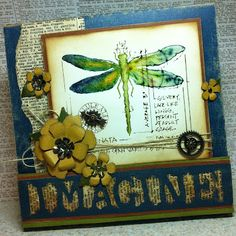 Richele Christensen: Stamping with Distress Markers