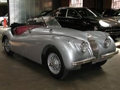 1954 Jaguar XK 120 ROADSTER Roadster - Click to see full-size photo viewer Jaguar Xk120, Full Size Photo, Photo Viewer, La Jolla, Old Cars, Classic Cars, Google Search, Board, Silver