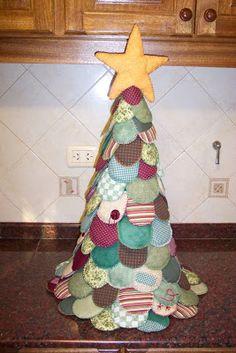 Arte Índia: Árvore de Natal em Patchwork - Passo a Passo