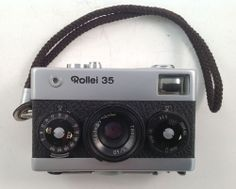 Rollei 35 VINTAGE CAMERA WITH Tessar 3,5/40mm LENS IN OLYMPUS BAG