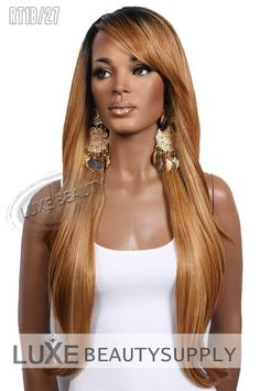 Shop LHB Signature Synthetic Lace Front Wig Tiffany in all the Hot Colors at Luxe Beauty Supply. Straight Hairstyles, Braided Hairstyles, Beyonce, Best Human Hair Wigs, Marley Braids, Curly Hair Styles, Natural Hair Styles, Braids Wig, Blonde Wig