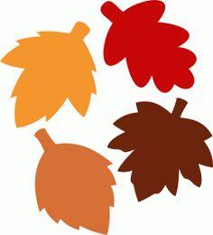 Silhouette Design Store - View Design #68176: leaves fall autumn set