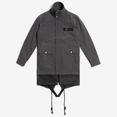 TACTICAL NYLON PARKA WITH WOOL LAYER