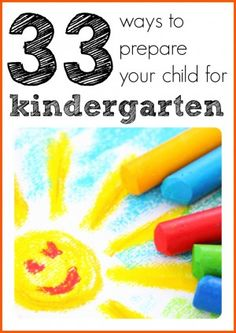 33 ways to prepare your kid for kindergarten - free printable list