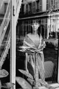 Anna Karina photographed by Jeanloup Sieff in Paris, 1960