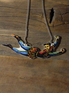Circus acrobat necklace by Little Rat's Boutique. #handmade #diy #jewellery #jewelry #vintage #etsy #circus #acrobat #statementnecklace Circus Acrobat, Vintage Circus, Ball Chain, Handmade Necklaces, Boutique, Turquoise Necklace, How To Draw Hands, Pendant, Jewelry