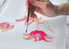 Silk painting is a really fun and very forgiving art form. Here are some basics to get you going!