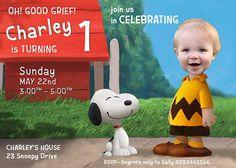 CHARLIE BROWN PARODY Invitation Charlie Brown by PartyPhotoInvites