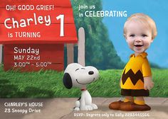 CHARLIE BROWN PARODY Invitation Charlie Brown by PartyPhotoInvites