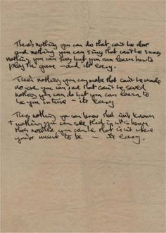 """The Beatles - Handwritten lyrics to """"All You Need Is Love"""""""