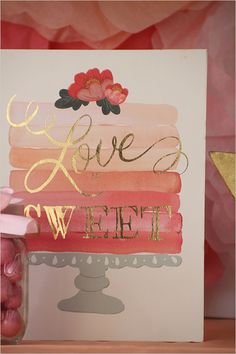 Love is sweet sign.