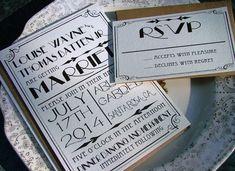 Art Deco Wedding Invitations: Great Art Deco Hollywood, a deposit to begin