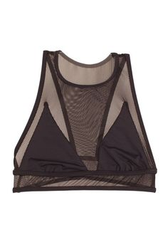 """The Lingerie Trends To Know NOW, Before They Blow Up #refinery29 http://www.refinery29.com/lingerie-trends-2016#slide-1 Athleisure/Sporty""""The athletic and streetwear influence has become very strong in lingerie/loungewear,"""" Stuart says, meaning we're seeing certain fabrics from that realm seep into intimates. """"Fishnet, French terry, rugby stripes...sure, we can make a bra with that!"""" This mesh crop top mimics both the silhouette and feel of a sports bra.Les Coquines Gis..."""