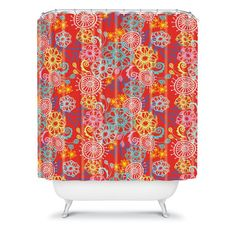 Stephanie Corfee Cart Wheels Shower Curtain