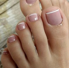 #Pedicure Toe Nail Designs, French Pedicure Designs, French Tip Pedicure, Feet Nail Design, Pedicure Tips, French Tip Toes, Pink Pedicure, Pedicure Nail Art, Manucure Pedicure